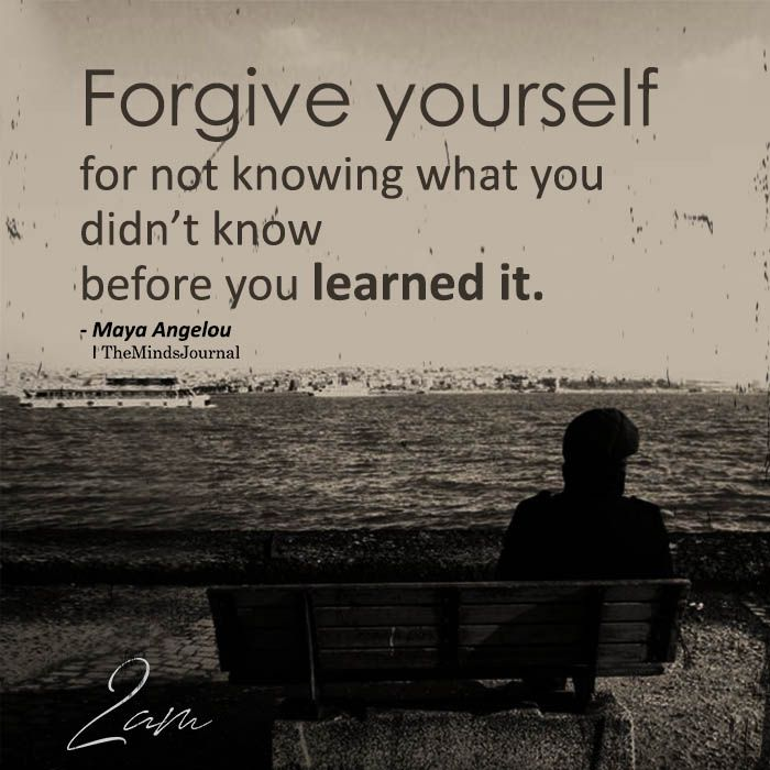 Forgive Yourself For Not Knowing – F Luk
