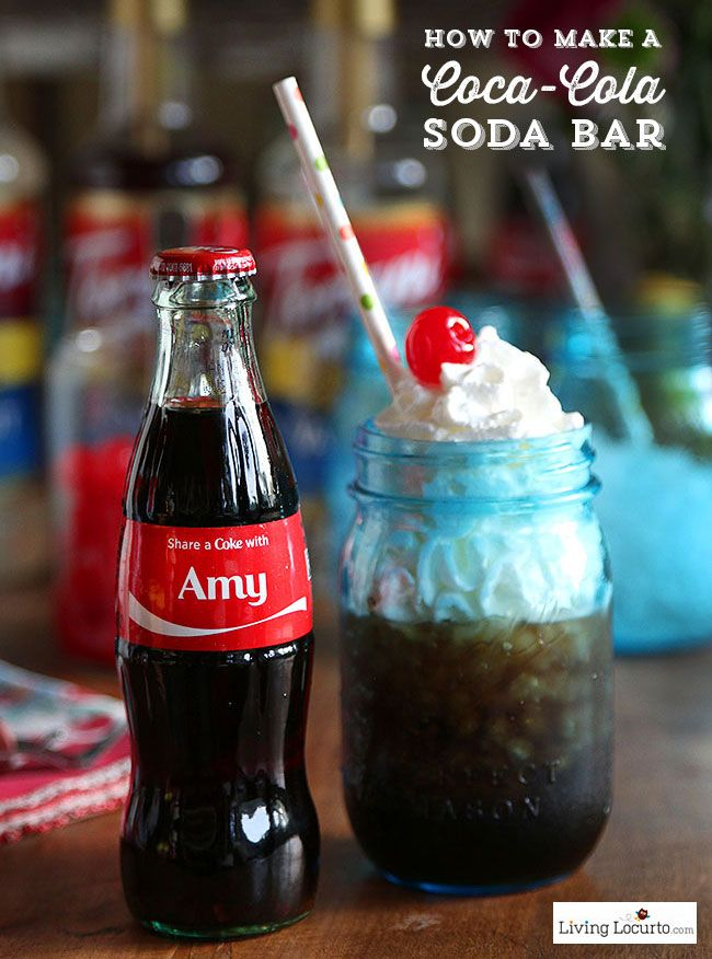 Our partner Amy shows us how to make a Coca-Cola soda bar for your next party. All you need is Coca-Cola, flavored syrups, and whipped cream. Serve in a mason jar and top it off with a colorful straw.