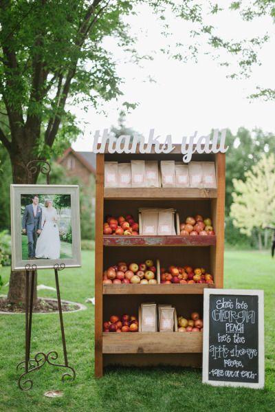 Adorable way to display wedding favors: http://www.stylemepretty.com/utah-weddings/salt-lake-city/2014/06/06/elegant-southern-fairytake-in-salt-lake/   Photography: Heather Parkinson - http://heathernanphotography.com/