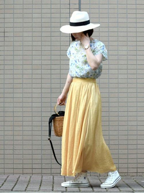 *kumiko*さんの「サテンロングスカート◆(SLOBE IENA)」を使ったコーディネート