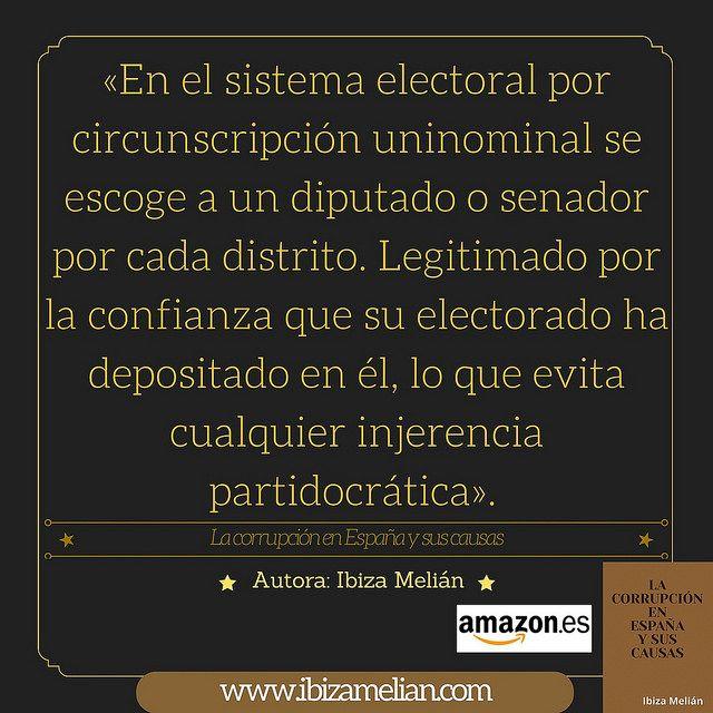 Frase sobre el sistema electoral por circunscripción uninominal | Ibiza Melián