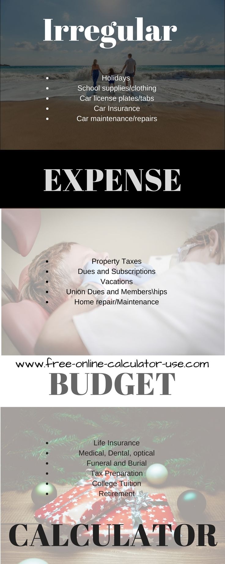 25 best ideas about Budget Calculator – Monthly Expense Calculator