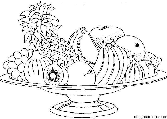 Tecnicas De Dibujo Bodegon Frutas Para Colorear Dibujos De Frutas Verduras Dibujo