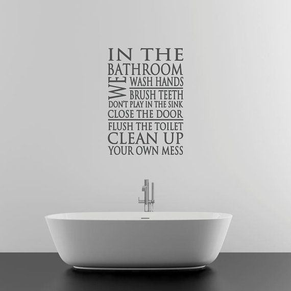 Wonderful Bathroom Wall Decal Sticker