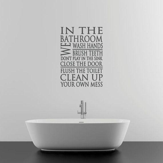 9 best Bathroom Wall Decals images on Pinterest Bathroom wall