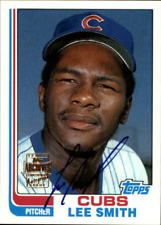 2001 Topps Archives Autographs Chicago Cubs Baseball Card #TAA163 Lee Smith