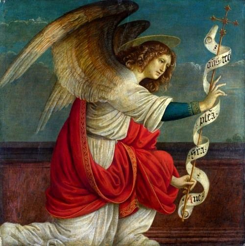 "Gaudenzio Ferrari - ""The Archangel Gabriel"", from The Annunciation. Gallery London:"