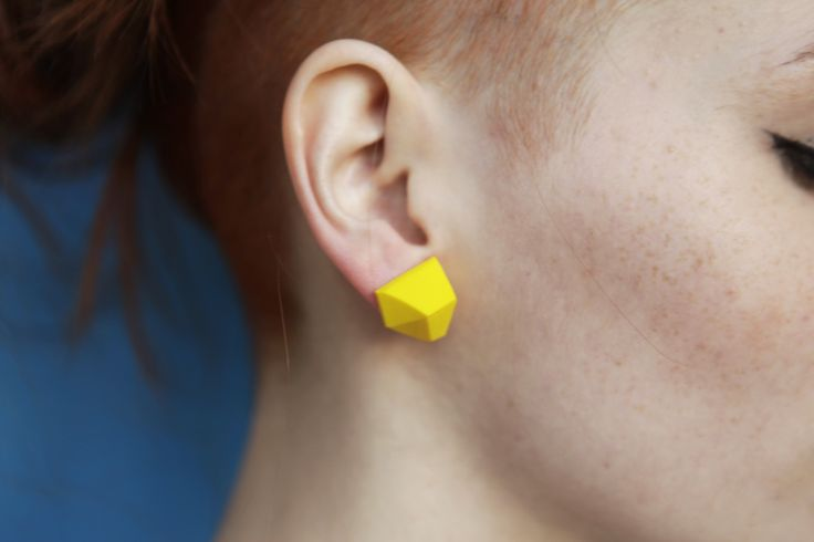 #geometric #ring #earring #minimal #polymer #geode #cut #edgy #urban #industrial #architecture #jewellery #colors #fashion all colors availiable here: https://www.etsy.com/shop/HELMONA?ref=l2-shopheader-name