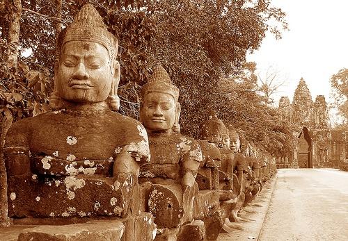 Angkor Gateway, Angkor, Cambodia