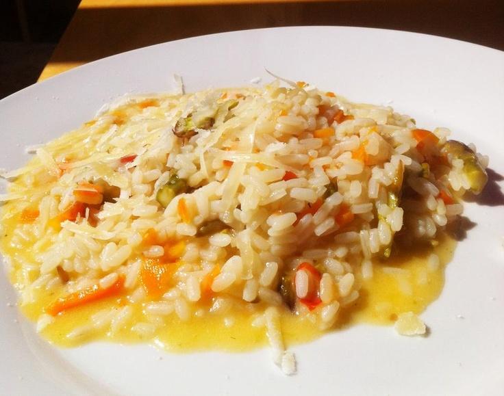 Il mio risotto con asparagi e praterie.