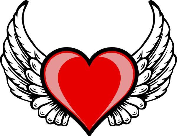 Heart Wing Logo Clip Art Vector Online Royalty