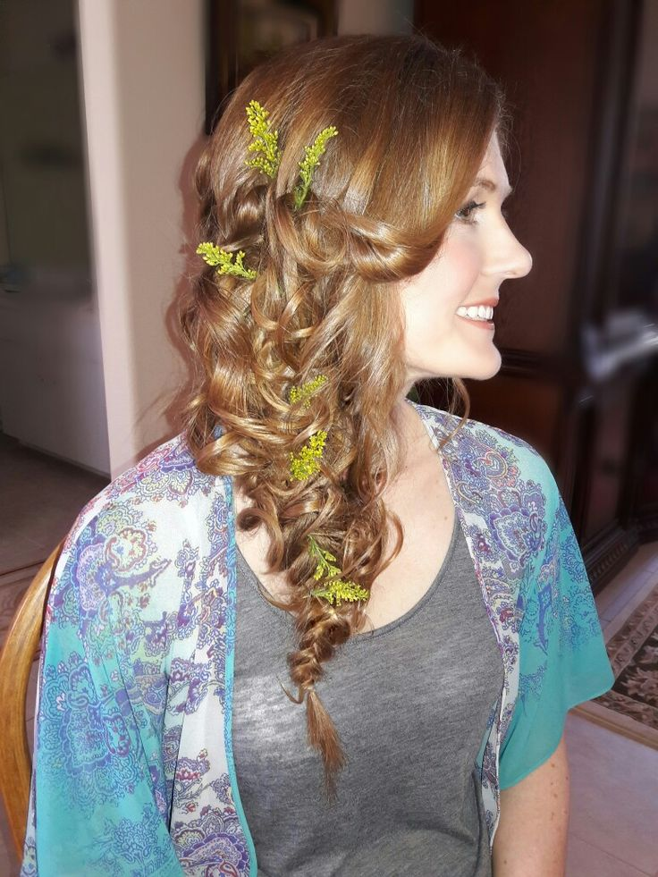 Bride Curly Braided hair, Bridal Hair, Wedding Hair, Orlando hairstylist, Orlando Makeup Artist