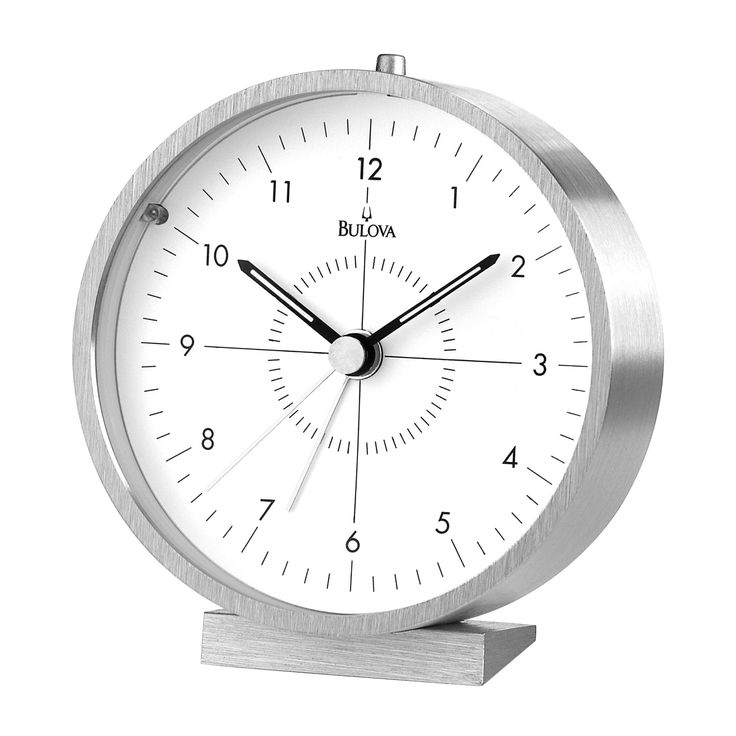 Bulova Flair Alarm Clock - B6844
