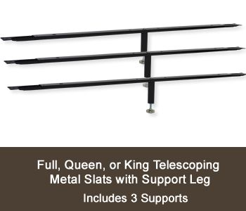 metal support slat kit for full queen and king wood beds