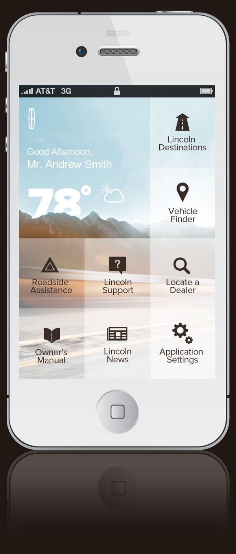 Lincoln App by Adam M Morris, via Behance #automotive