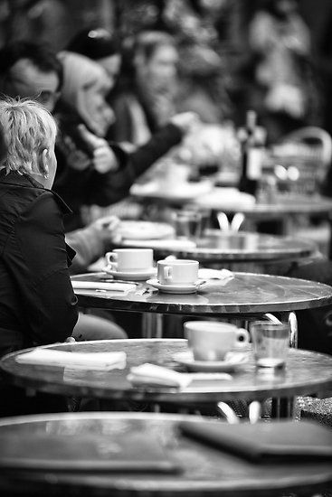 Parisian Cafe -this could be plural because many times the cafes are side by side by side by side! All with sidewalk tables :)