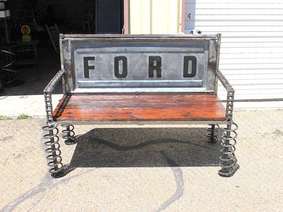 Ford Tailgate Bench. Truck Tail Gate Benches, Reclaimed Wood Furniture, Rustic Wood Bench on Etsy, $999.99