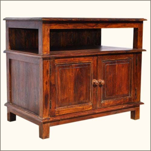 Charming Appalachian Rustic Media Center Small TV Media Console