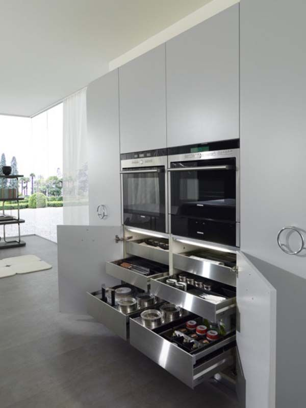 Curved and balanced modern kitchen design it is kitchen