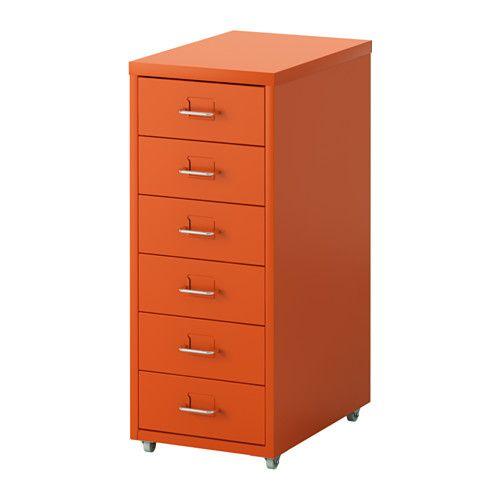 HELMER Drawer unit on casters - orange - IKEA