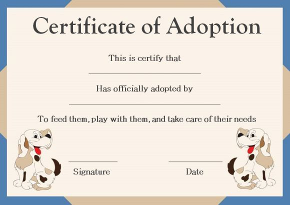 Pet Adoption Certificate Template 10 Creative And Fun