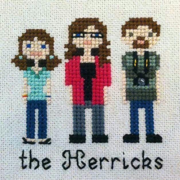 Cross stitch family