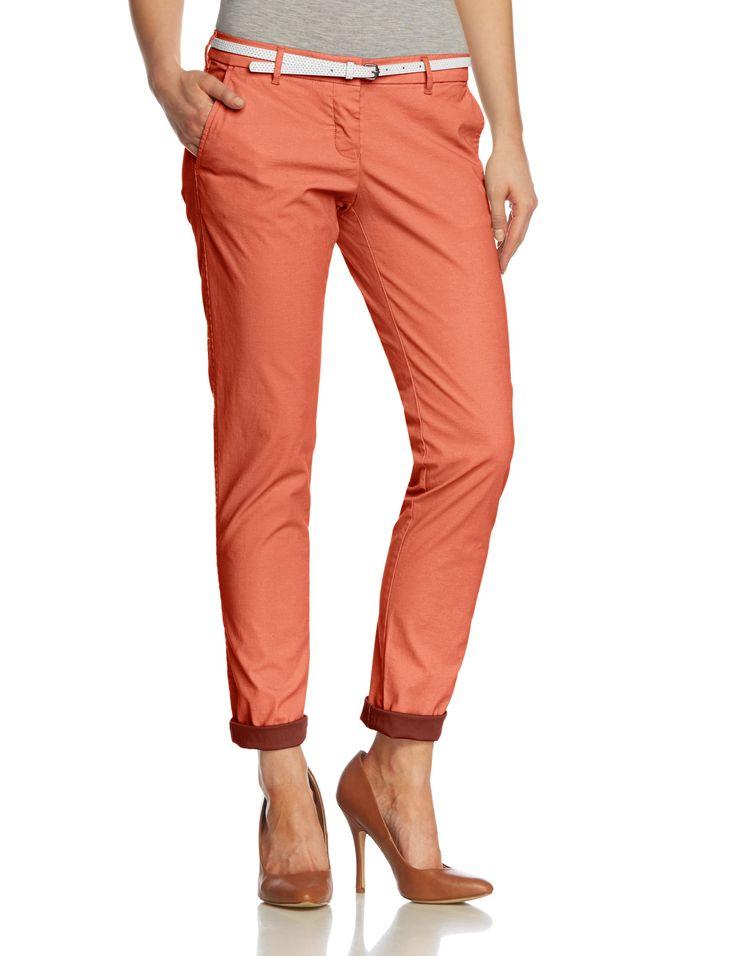 Maison Scotch - Pantalon Chino - Femme - Orange (papaya 26) - W30/L32: Amazon.fr: Vêtements et accessoires