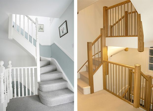 Left Econoloft staircase, Right Tony Pestana Builders staircase