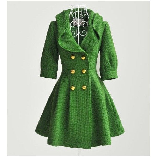 green wool coatCreative Fashion, Luxury Green, Favorite Colors, Green Coats, Gorgeous Green, Ashley Sewing, Green Wool, Wool Coats, Green Dresses