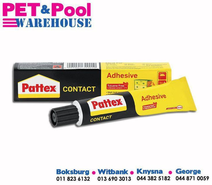 With Pattex Contact Adhesive you can get your swimming pool tiles fixed once and for all! This Toluene free formulation spreads easily, bonds quickly and offers superior sticking power. Get it today at #PetPool Warehouse! #Pattex #Adhesive