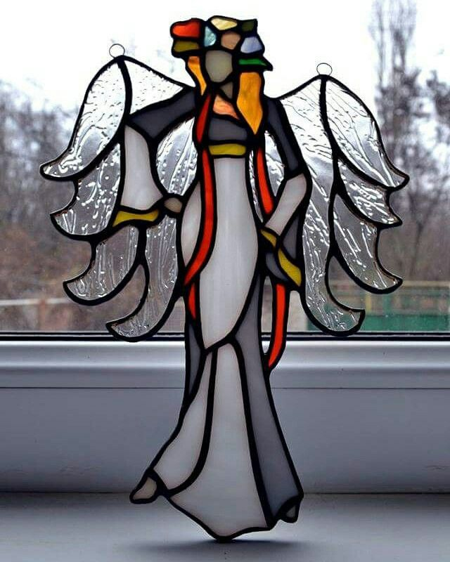 Angel of Ukraine, love. Interior accessories, stained glass.