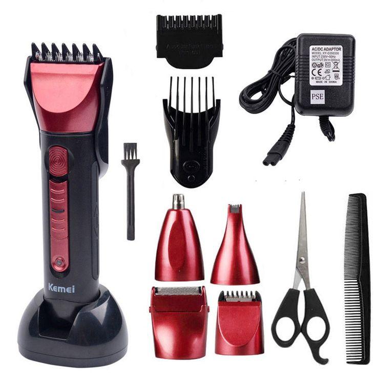 T093 5 w 1 akumulator do strzyżenia włosów maszyna elektryczna do golenia brody fryzjer cięcia kemei maquina de cortar o cabelo