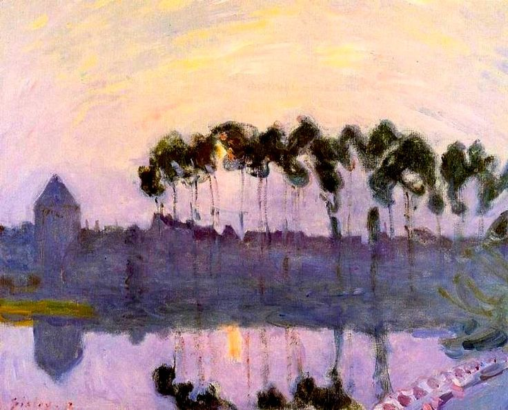 Setting Sun at Moret - Alfred Sisley
