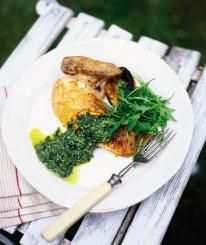 This is a fantastic way to eat a roast chicken – whether it's hot or cold.