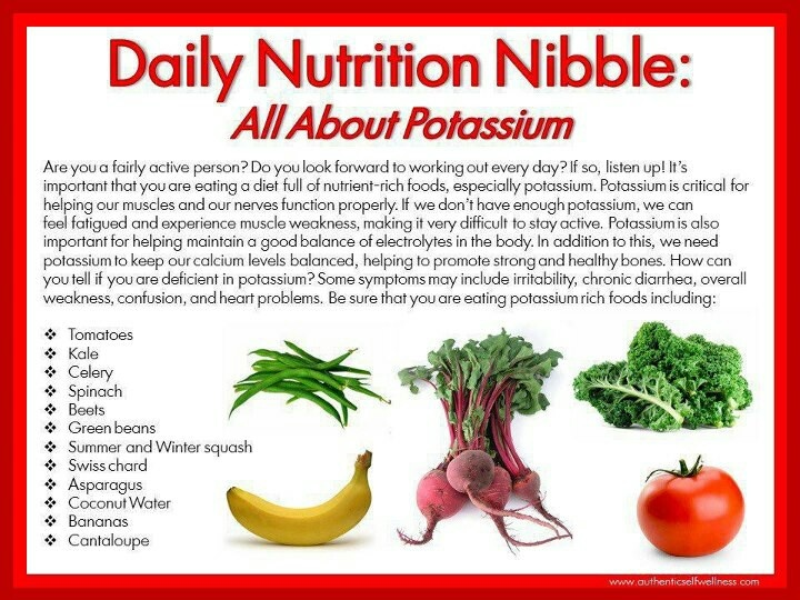 10 best Potassium Ideas images on Pinterest Healthy food, Health - potassium rich foods chart