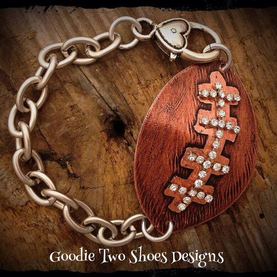 Football Mom Bracelet Football Jewelry Football by mygoodie2shoes, $38.00