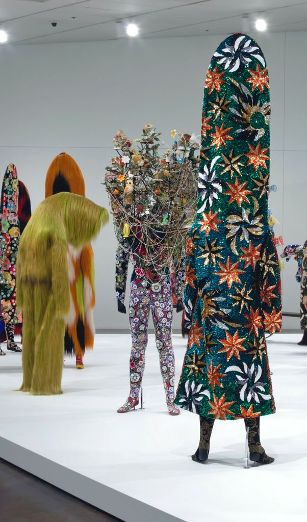 """""""Second Skin"""" exhibition designed by Nick Cave and Bob Faust."""