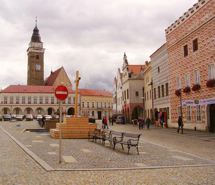 Slavonice - renaissance town in South Bohemia, Czechia