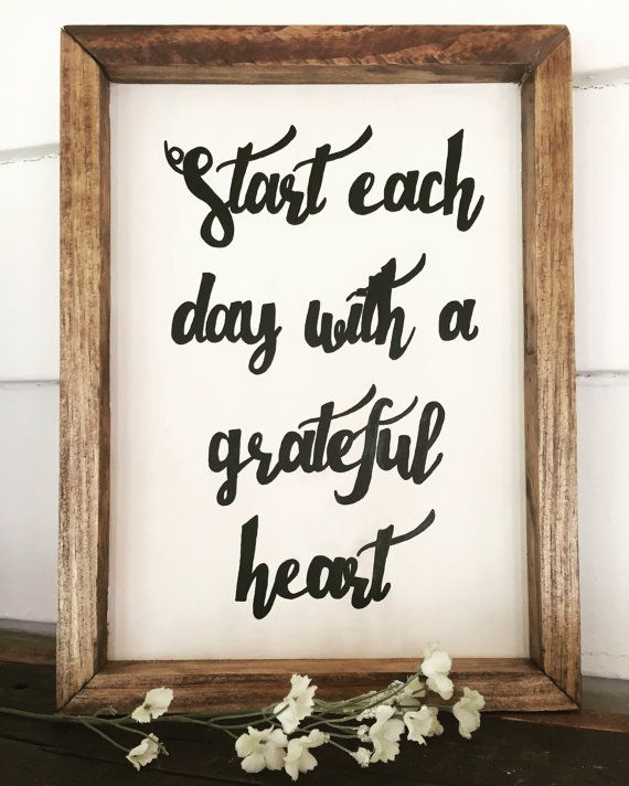 Start each day with a Grateful Heart Sign by MBCreations21 on Etsy