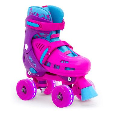 Lightning Hurricane Adjustable Quad Skate - Pink -12-2