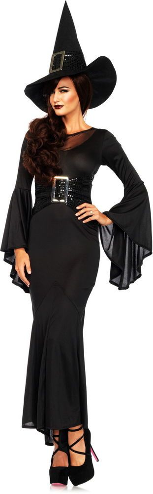 Classic Wicked Witch Of The West Long Dress Outfit Witch Costume Adult Women #LegAvenue