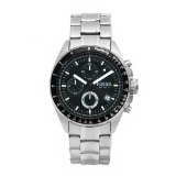 Fossil Men's CH2600 Decker Chronograph Stainless Steel Black Dial Watch (Watch)By Fossil