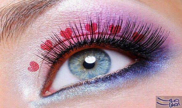 طريقة سهلة لمكياج رومانسي في عيد الحب مليء بالقلوب الحمراء تعددت طرق تطبيق المكياج المناسب ليوم الحب وانتشرت فيديوها Dramatic Eye Makeup Latest Makeup Makeup