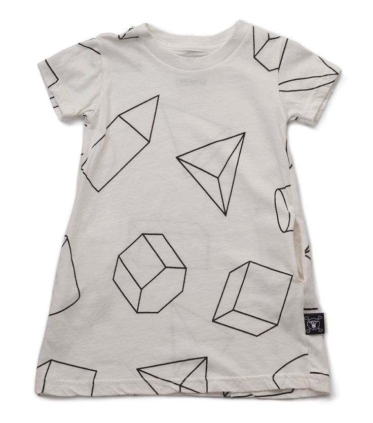 Nununu Geometric A Dress White