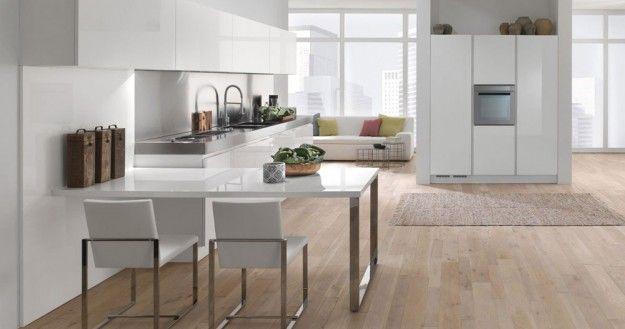 Oltre 25 fantastiche idee su cucine bianche moderne su pinterest - Cucine bianche e legno ...