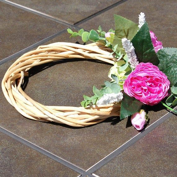 fake flowers Candle ring  willow wreath candle holder table centerpiece silk flowers arrangement living room centerpiece