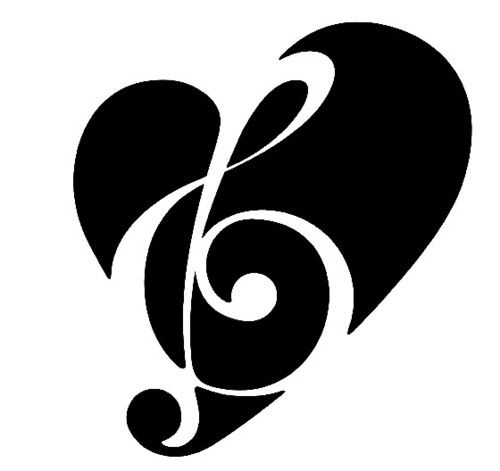 Cute tattoo for music lovers.
