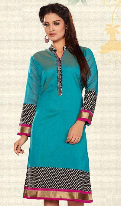 Long Tunic Tops in Silk & Cotton designer #Kurti