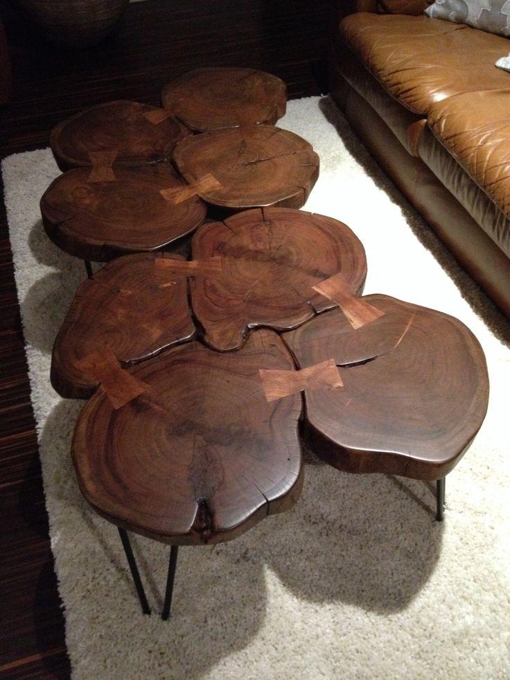 Tree Slice Coffee Table Decorating Pinterest