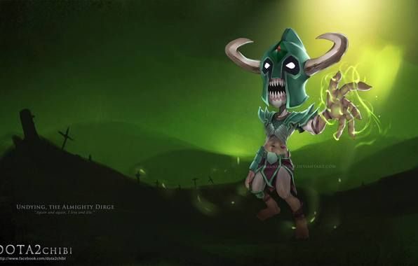 dota 2 chibi | Dota 2, undying, dirge, chibi, virtualman209 wallpapers (photos ...